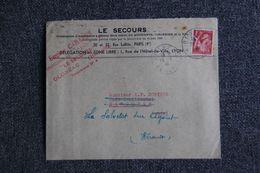 """Enveloppe Publicitaire : OLONZAC , Eugène CABANES, Assurance """" LE SECOURS """" - Banca & Assicurazione"""