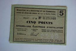 Rationnement - Bon Matiere Ocrpi Appareillage Electrique D'installation - Documents Historiques