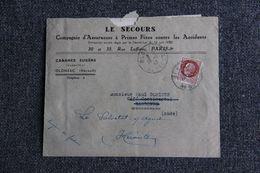 """Enveloppe Publicitaire : OLONZAC , Eugène CABANES, Inspecteur, Assurance """" LE SECOURS """" - Banca & Assicurazione"""