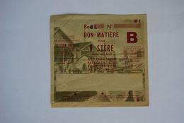 Rationnement - Bon Matiere Ocrpi Bois Rare Epreuve - Historische Documenten