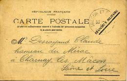 Carte Franchise Militaire TRESOR ET POSTES 40 30/01/1915 Pour Charnay Les Macon - Marcophilie (Lettres)