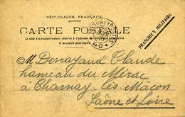 Carte Franchise Militaire TRESOR ET POSTES 4026/01/1915 Pour Charnay Les Macon - Marcophilie (Lettres)
