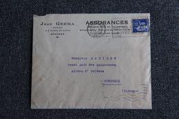 Enveloppe Publicitaire : BEZIERS, Jean GERMA, Assurances. - Banca & Assicurazione