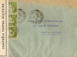 C1   1939 Lettre Censurée  Avec RARE Cachet Prisonniers De Guerre Paris - Marcophilie (Lettres)
