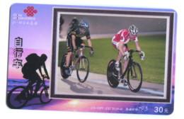 Télécarte China Unicom : Cyclisme Sur Piste - Sport