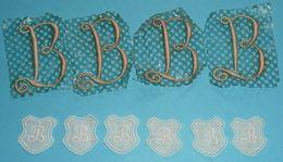 """Broderie Mercerie Couture, Lot De Monogrammes Monogramme Lettres """"B"""" Lettre - Vintage Clothes & Linen"""