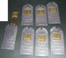 Lot De 7 Lettres à Embosser Embossage, D K O R T V W Outils, Initial Embossing - Autres Collections