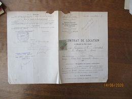 LA LONGUEVILLE CONTRAT DE LOCATION LE 3 NOVEMBRE 1920 A Mr LEMOINE INDUSTRIEL 3 WAGONNETS A BENNE BASCULANTE - Documents Historiques