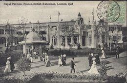 YT Great Britain 106 CAD Ballymaclinton Shepherd's Bush Exhibition JY 20 08 Franco-British Exhibition 1908 - Covers & Documents