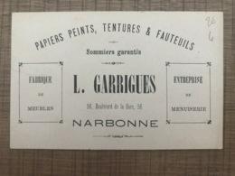 Papiers Peints Tentures & Fauteuils L. GARRIGUES Narbonne - Maps