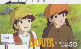 Télécarte Ancienne Japon * 110-7010 * MANGA MIYASAKI * LAPUTA (17.101) ANIME Japan FRONT BAR  Phonecard * COMICS - BD