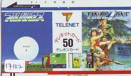 Télécarte Ancienne Japon * 110-4020 * MANGA Jeu Video - FINAL ZONE (17.102) ANIME Japan FRONT BAR  Phonecard * COMICS - BD
