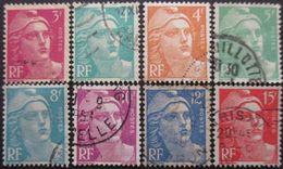 FRANCE Marianne De Gandon Série N°806 Au 813 Oblitéré - 1945-54 Marianne De Gandon