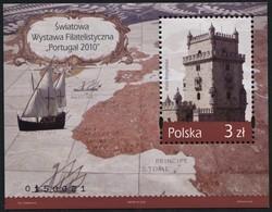 Poland 2010 Mi Block 194 World Philatelic Exhibition Portugal 2010, Ship, Map MNH** - 1944-.... Republic