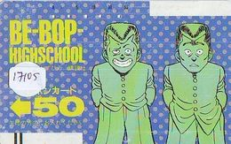 Télécarte Ancienne Japon * 110-6618 * MANGA * BE BOP HIGHSCHOOL (17.105) ANIME Japan FRONT BAR  Phonecard * COMICS - BD