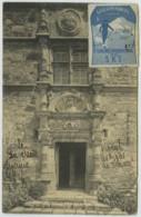 Vignette Club Alpin Français Fév. 1911 . Ve Concours International De Ski Au Lioran . Napoléon Ier (lire Texte) . - Commemorative Labels