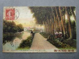 CPA 89 Yonne AUXERRE - Les Bords De L'yonne à L'Arbre Sec , Pêcheur à La Ligne , 1920 - Auxerre