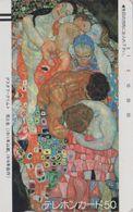TC Ancienne JAPON / 110-4545 A - PEINTURE AUTRICHE - KLIMT - AUSTRIA Rel. PAINTING JAPAN Front Bar Phonecard - 1922 - Malerei