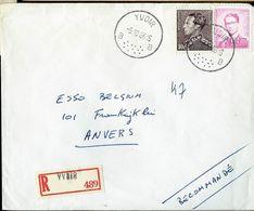 Doc. De YVOIR - B B - Du 05/10/66 En Rec. - Marcophilie