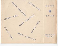 1576   Carte De VOEUX  Nouvel An  OTAN NATO  Palais De CHAILLOT   30 12 1957 - Nouvel An