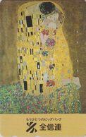 TC JAPON / 110-011 - PEINTURE AUTRICHE - KLIMT - LE BAISER THE KISS - AUSTRIA Rel. PAINTING JAPAN Phonecard - 1924 - Malerei