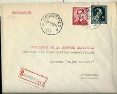 Doc. De VAUDIGNIES - A A - Du 11/01/55 En Rec. - Marcophilie