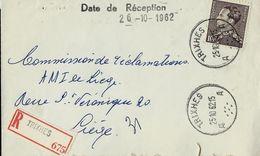 Doc. De TRIXHES - A A - Du 25/10/62 En Rec. - Marcophilie