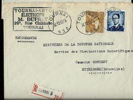 Doc. De TOURNAI - D 3 D - Du 24/12/53 En Rec. - Marcophilie