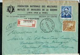 Doc. De TRIVIERES - A A - Du 05/11/55 En Rec. - Marcophilie