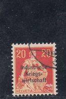 Suisse - Année 1918 - Service - Oblitéré - N°Zumstein 13 - Timbre Avec Surcharge Grasse Sur 3 Lignes - Service