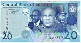 Lesotho - 20 Maloti - 2010 - Unc. - Pick 22.a - Serie AA - Lesoto