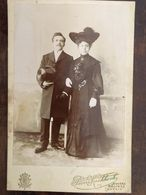 Photo, Couple élégant, Photographe Pierre Kockkoek, Anvers, Malines,Louvain, BELGIQUE - Oud (voor 1900)