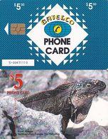 BAHAMAS ISL.(chip) - Great Iguana(BAH C24b), Large Number In The Box, Chip GEM1b, Used - Bahamas