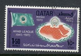 Qatar 1970 Arab League 1.50r FU - Qatar