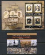 Maldive Is 2005 Battle Of Trafalgar Bicentenary, Nelson 2xMS MUH - Maldive (1965-...)