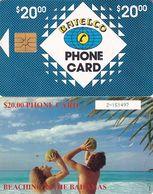 BAHAMAS ISL.(chip) - Beaching In Bahamas(BAH C7bD), Large Number In Box, Chip GEM1, Used - Bahamas