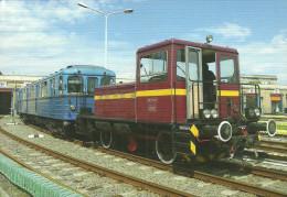 UNDERGROUND SUBWAY METRO RAIL RAILWAY RAILROAD LOCOMOTIVE WORK MACHINE WORKMACHINE BKV BUDAPEST * Top Card 0394 Hungary - Métro