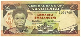 Swaziland - 2 Emalangeni - ND ( 1987 ) - Pick: 13 - Serie C - Swaziland