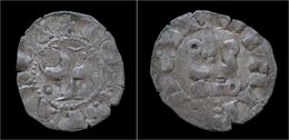 Crusader Archaia John Of Gravina Billon Denier No Date - Autres Pièces Antiques