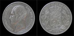 Belgium Leopold I 5 Frank 1851 - 1831-1865: Leopold I