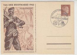 OSTLAND P 3 /04 Blanko Stempel FRANKFURT / ODER Tag Der Briefmarke 1942 - Bezetting 1938-45