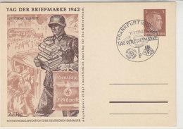 OSTLAND P 3 /02 Blanko Stempel FRANKFURT / ODER Tag Der Briefmarke 1942 - Bezetting 1938-45