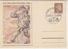 OSTLAND P 3 /01 Blanko Stempel FRANKFURT / ODER Tag Der Briefmarke 1942 - Bezetting 1938-45