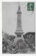 (RECTO / VERSO) DRANCY EN 1907 - N° 18 - MONUMENT AUX MORTS - PLI ANGLE BAS A GAUCHE - CPA VOYAGEE - Drancy