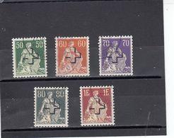 Suisse - Année 1938 - Service - Oblitéré - N°Zumstein N°37/40+42 - Helvétia Avec épée, Avec Surcharge - Servizio