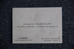 Carte De Visite - GENERAL MOTORS, Camions DIAMOND, Jacques BARILLET - Visiting Cards