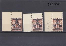 GG Generalgouvernement MiNr. 34a, Postfrisch, ** 3xEckrand Verschobener Zahnkamm - Besetzungen 1938-45