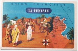 56 LA TUNISIE - Union Française - Offert Par Lion Noir - Carte Publicitaire - Tunisia