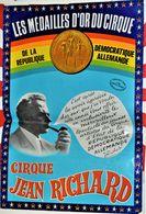 Rare Affiche D'origine Format 60 X 40 Cm Cirque Pinder Jean Richard Présente Les Médailles D'or Du Cirque De La RDA - Posters