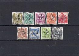 Suisse - Année 1938 - Service - Oblitéré - N°Zumstein 28y/36y - Paysages Avec Surcharge - Papier Lisse - Servizio